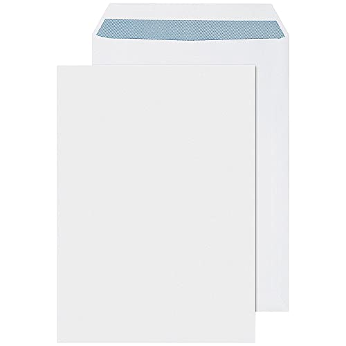 Q-Connect Pocket Envelope B4 353 x 250 mm Self Seal 100 gsm - White, Pack of 250 from Q-CONNECT
