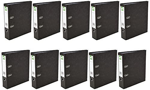 Q-Connect KF20001 Board Lever Arch File A4 (Pack of 10) - Black from Q-CONNECT