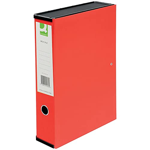Q-Connect KF20016 Box File Foolscap - Red box of 5 from Q-CONNECT