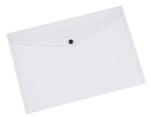 Q-Connect A5 Clear Plastic Document Folder - Pack of 12 from Q-CONNECT
