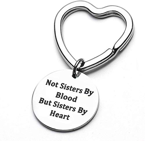 QICI Silver Stainless Steel Keyrings Best Friend Gift Stainless Steel Keychain for Women Teen Girls Birthday Present Graduation Gifts from QICI