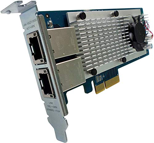 QNAP LAN-10G2T-X550 Internal Ethernet 10000Mbit/s - networking cards (Wired, PCI-E, Ethernet, IEEE 802.3an) from QNAP