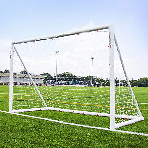 QUICKPLAY Q-Fold 8x5ft | The 30 Second Folding Football Goal for the Garden [Single Goal] The Best Weatherproof Football Net for Kids and Adults - 2YR WARRANTY from QUICKPLAY