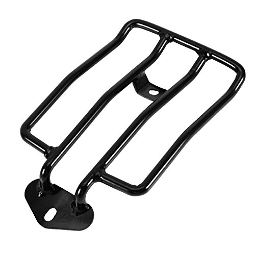 Qiilu Solo Seat Rear Luggage Rack Carrier For Harley Sportsters XL883/1200 X48 2004-16 from Qiilu
