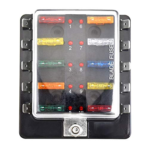 homyl auto replacement car marine 120a circuit breaker reset switch fuse  holder 12v-24v circuit breaker