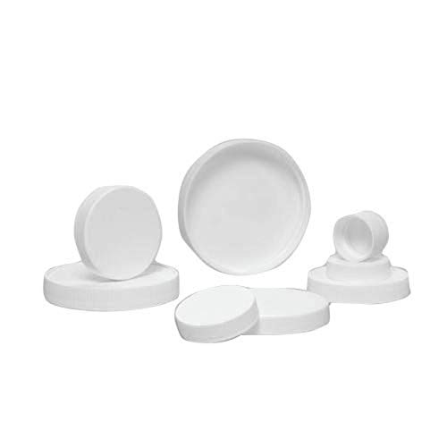 Qorpak CAP-06639 63-400 White Polypropylene Ribbed Unlined Cap (Pack of 288) from Qorpak