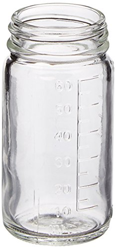 Qorpak GLA-00843 Graduated Medium Round with 38-400 Neck Finish Bottle, 2 oz, Clear (Pack of 48) from Qorpak