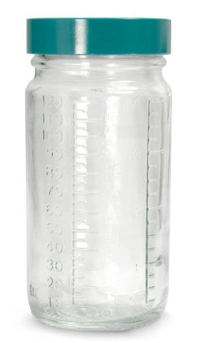 Qorpak GLC-01475 Clear Glass Graduated Medium Round Bottle, 2 oz. (30 mL) Capacity (Pack of 48) from Qorpak