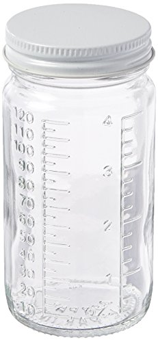 Qorpak PLC-03404 HDPE Cylinder Bottle with 24-410 White Polypropylene SturdeeSeal Polyethylene Foam Lined Cap, 4 oz, Natural (Pack of 48) from Qorpak