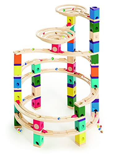 Quadrilla QUA-E6008 Wooden Marble Run Builder-Cyclone-High Quality Wooden Safe Play-Smart play for Smart Family-Quality Time Playing Together from Quadrilla