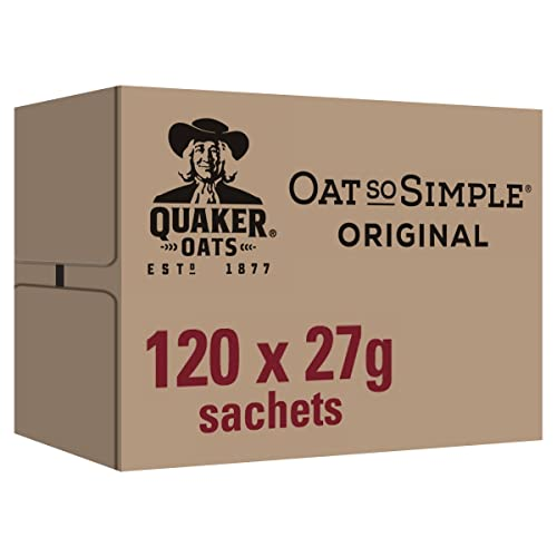 Quaker Oatso Simple Original Porridge, 27 g (Pack of 120) from Quaker