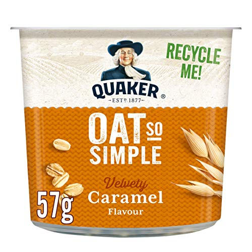 Quaker Oat So Simple Caramel Flavour Porridge Pot, 57 g, Pack of 8 from Quaker