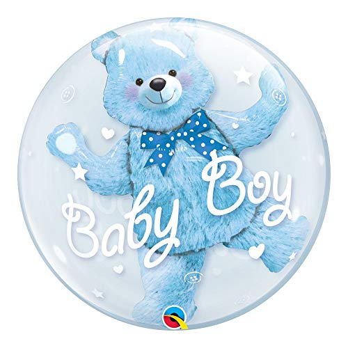 "Qualatex 29486 24-Inch ""Double Baby Blue Bear"" Bubble Balloon from Qualatex"