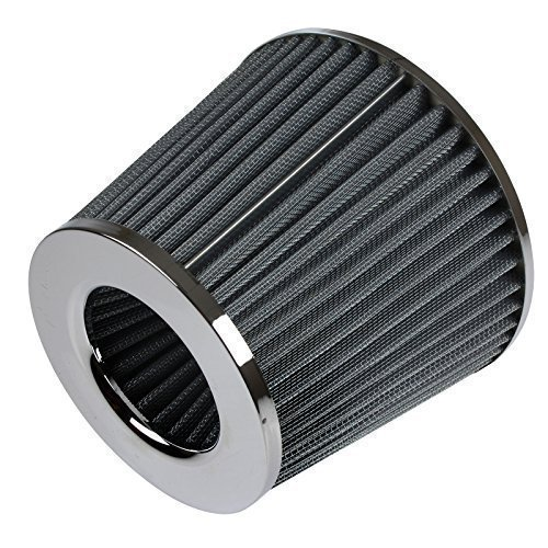 Universal High Performance Car Air Filter Induction Kit Sports Car Cone Air Filter Chrome Finish from Qualtex