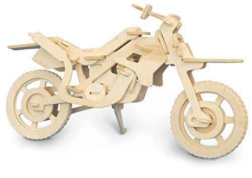 Quay Cross Country Motorbike Woodcraft Construction Kit FSC from Quay
