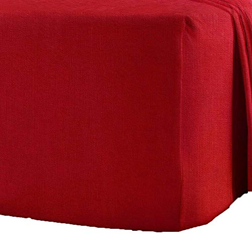 Queens Land Home 100% Brushed Cotton Flannelette Fitted Sheets, Pillowcase available in (King, Red) from Queens Land Home