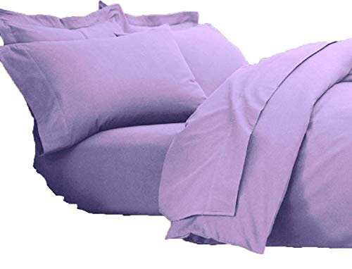 Queens Land Home 100% Brushed Cotton Flannelette Flat Sheets, Pillowcases available in (Super King, Lilac) from Queens Land Home