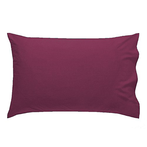 Queens Land Home 2 x Pillow Case Plain Pollycotton HouseWife Pillow Pair Cases (Wine)-PACK OF 2 from Queens Land Home