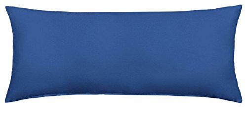 Queens Land Home Bolster Pillow Case Pregnency Pregnency Maternity Orthopeadic Support Pillow Case Cover (4.6 FT (19 x 52cm), Mid Blue) from Queens Land Home