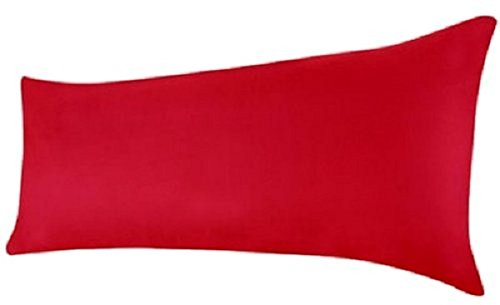 Queens Land Home Bolster Pillow Case Pregnency Pregnency Maternity Orthopeadic Support Pillow Case Cover (5FT (19 x 60cm), Red) from Queens Land Home