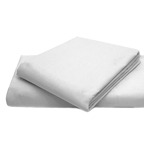 Queens Land Home Easycare & Long Lasting Pollycotton Flat Sheets. (White, Super King) from Queens Land Home
