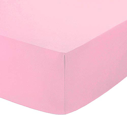"Queens Land Home 100% Egyptian Cotton 12""/30cm Deep Fitted Sheet All UK Sizes or Pillow Pair Cases. (Pink, Single) from Queens Land Home"