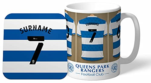 Personalised Queens Park Rangers Dressing Room Shirts Mug & Coaster Set from Queens Park Rangers F.C.