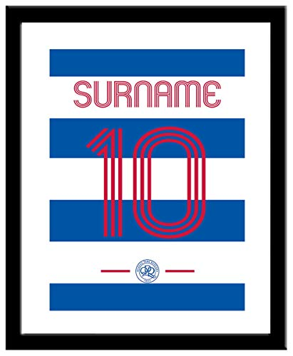 Personalised Queens Park Rangers FC Retro Shirt Framed Print from Queens Park Rangers F.C.