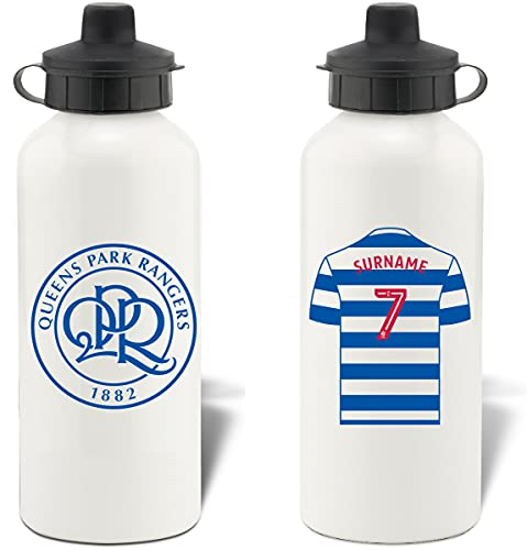 Personalised Queens Park Rangers FC Shirt Aluminium Sports Water Bottle - White Bottle from Queens Park Rangers F.C.
