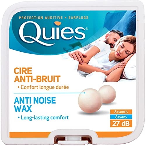 Quies Earplug Natural Wax, 8-Pairs from Quies