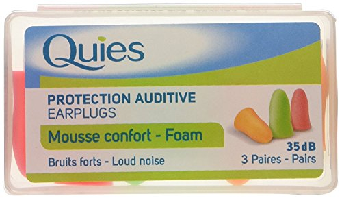 Quies Pair of Foam Earplugs of Earplugs - Pack of 3 from Quies