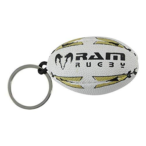 Rugby Ball Key Ring - Ram Rugby - Black/Gold from RAM Rugby
