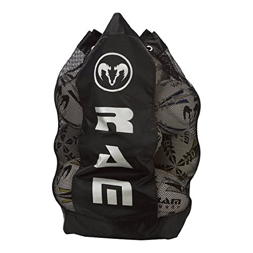 Ram Rugby Pro Breathable Ball Bag - Black - Holds 13 Rugby Balls - Shoulder Straps - Padding - Strength from RAM Rugby