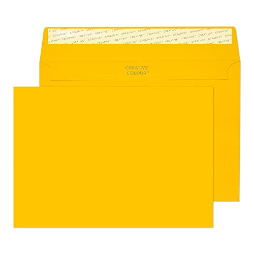 Blake Creative Colour C5 162 x 229 mm 120 gsm Peel & Seal Wallet Envelopes (304) Egg Yellow - Pack of 500 from Blake