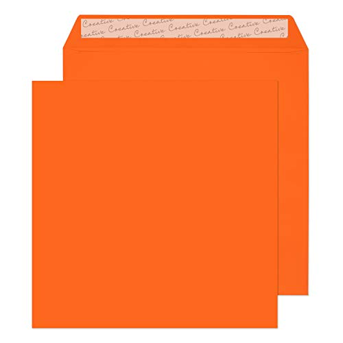 Blake Creative Colour 220 x 220 mm 120 gsm Peel & Seal Wallet Envelopes (505) Pumpkin Orange - Pack of 250 from Blake