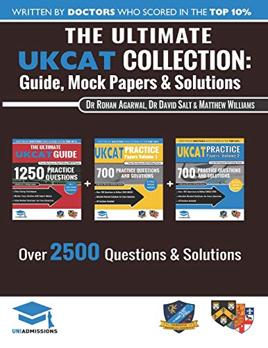The Ultimate UKCAT Collection: 3 Books In One, 2,650 Practice Questions, Fully Worked Solutions, Includes 6 Mock Papers, 2019 Edition, UniAdmissions from RAR Medical Services