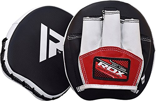RDX Synthetic Leather Strike Shield PAIR Smarty Hook Jab Pads Boxing Thai Pao MMA Training from RDX