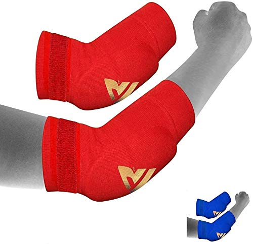 RDX MMA Elbow Support Brace Sleeve Pads Guard Bandage Elasticated Shield Protector,L from RDX