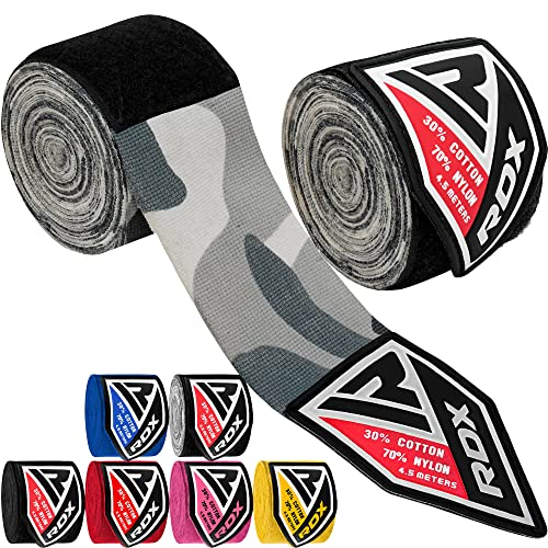 RDX Boxing Hand Wraps Elasticated MMA Inner Gloves Fist Protector 4.5 meter Bandages Mitts from RDX