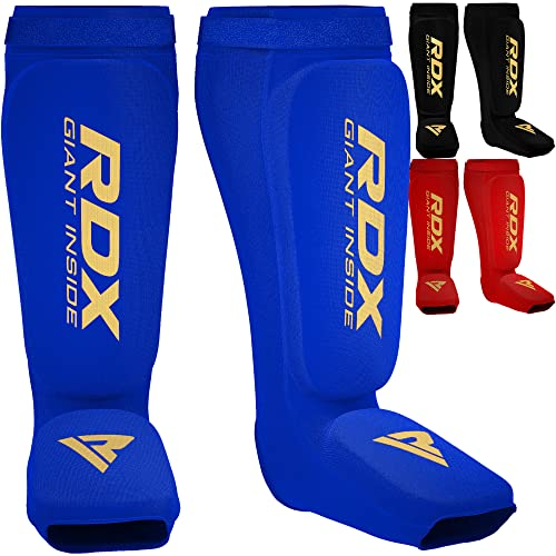 RDX Shin Guard MMA Instep Foam Pad Support Boxing Leg Guards Foot Protective Gear Kickboxing (CE Certified Approved by SATRA) from RDX
