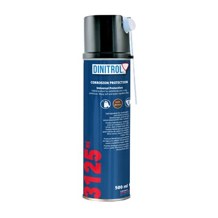 REJEL DINITROL 3125HS CAVITY WAX 500ml AEROSOL SPRAY CAN with 90mm Extension straw nozzle from REJEL