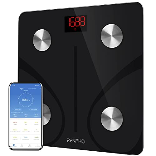 RENPHO Bluetooth Body Fat Scale, Digital Body Weight Bathroom Scales Weighing Scale with Smart BMI Scale, Body Composition Monitors with Smartphone App from RENPHO