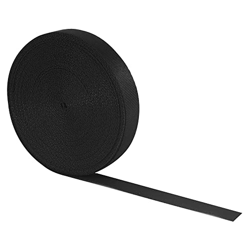 RETON 15mm Wide 10 Yards Black Nylon Heavy Polypro Webbing Strap from RETON