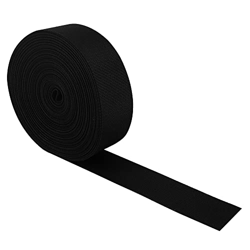 RETON 50mm Wide 10 Yards Black Nylon Heavy Polypro Webbing Strap from RETON