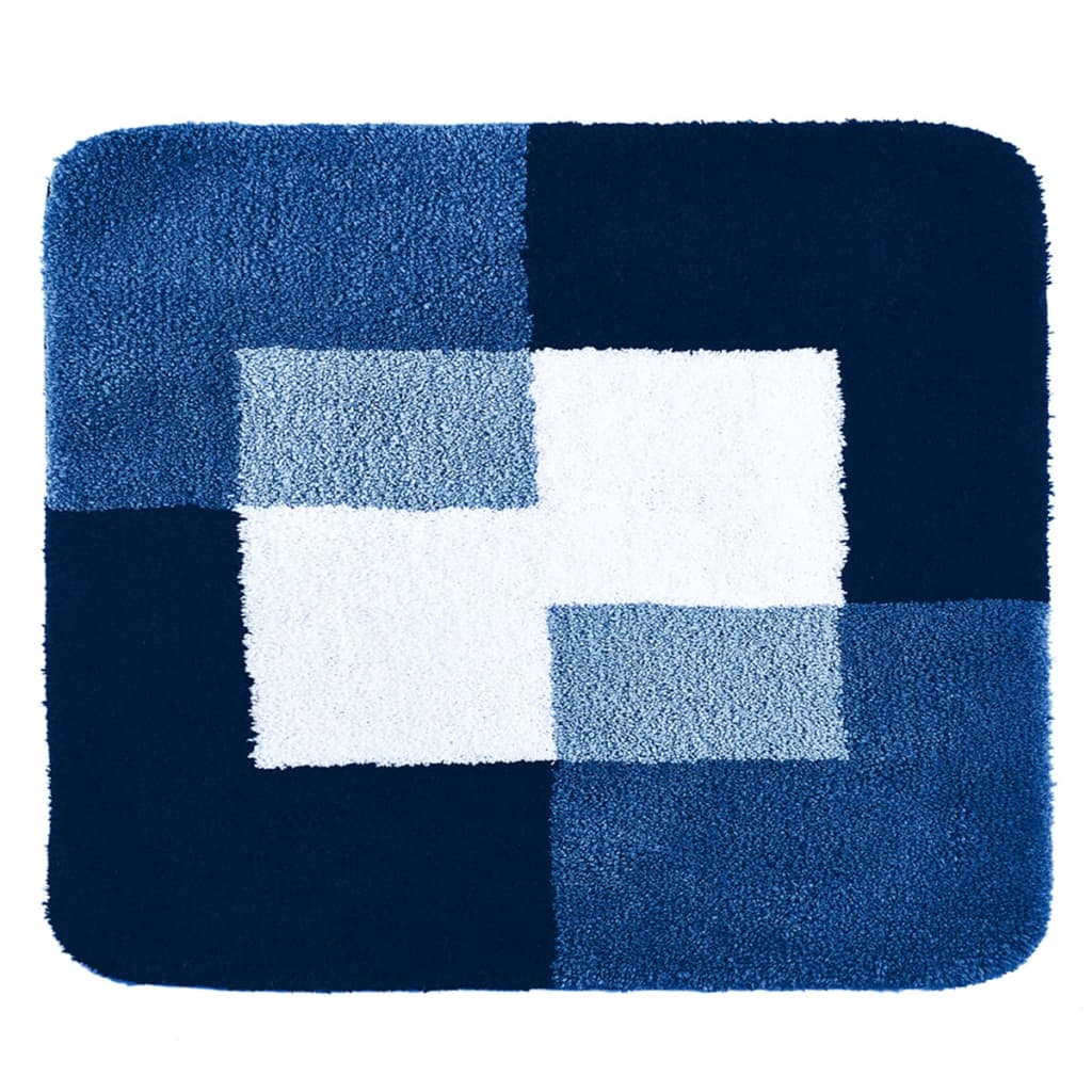 RIDDER Bathroom Rug Coins 55x50 cm Blue 7103803 from RIDDER