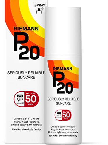 Riemann P20 Sunscreen SPF50 Spray 100ml | Long Lasting UVA & UVB Protection for up to 10 hours | Highly Water Resistant from RIEMANN P20