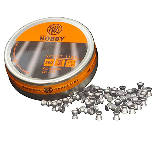 RWS Hobby .177 4.5mm Flat Head Pellets 177 Air Rifle Gun Pellets 500 Airgun Target Pest Control 213 64 06 from RWS