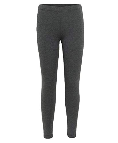 Kids Plain Leggings in Charcoal 5-6 Years from RageIT