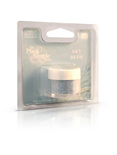 Sky Blue Edible Dust for Food Use & Cake Decorating from Rainbow Dust