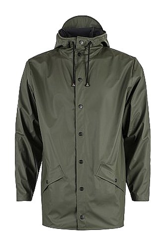 Rains Men's Jacket Raincoat, Green, Small (Manufacturer Size:XS/S) from Rains